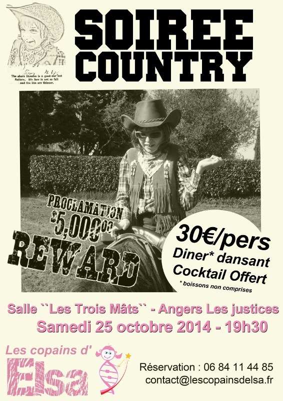 affiche SOIREE COUNTRY